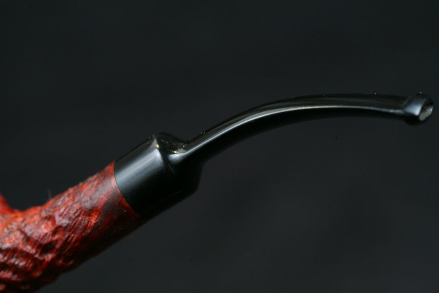 bent sablée ring grain ebonite