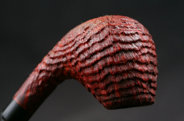 bent sablée ring grain ebonite