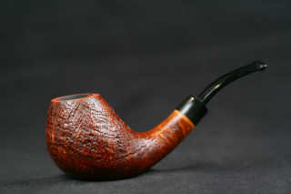bent sandblasted ebonit